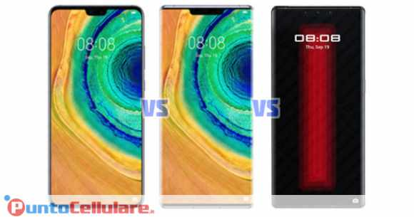Confronto Huawei Mate 30 VS Mate 30 Pro VS Mate 30 RS Porsche Design