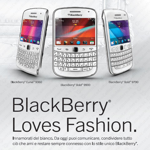 BlackBerry Loves Fashion celebra la White Collection di RIM