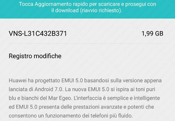 Huawei P9 Lite - Android 7.0 Nougat arriva anche in Italia