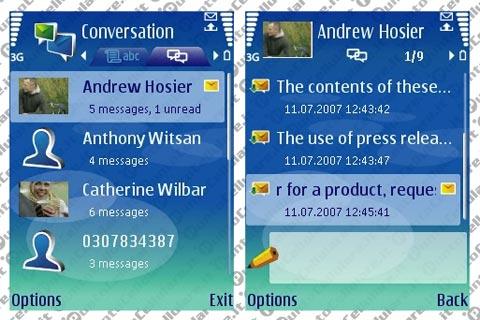 480 x 320 · 42 kB · jpeg, Applicazione Nokia Conversation per