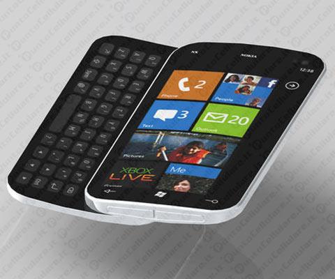 Il primo smartphone nokia con windows phone avr una - Smartphone con tasti ...