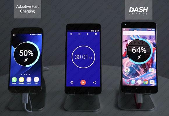 OnePlus 3 sfida Galaxy S7 a colpi di ricarica rapida