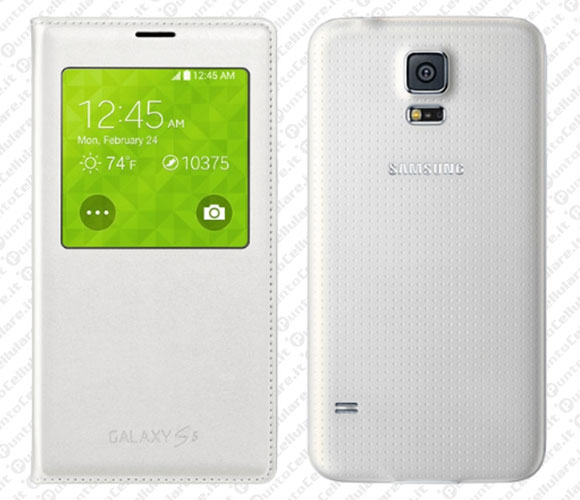 samsung s-view custodia wireless per galaxy s5