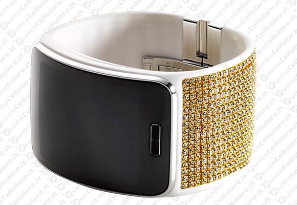 Samsung gear s ecco il bracciale della swarovski for for Orologio della samsung