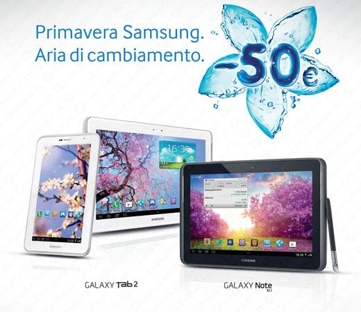 samsung offre 50 euro di sconto per l 39 acquisto di un tablet android. Black Bedroom Furniture Sets. Home Design Ideas