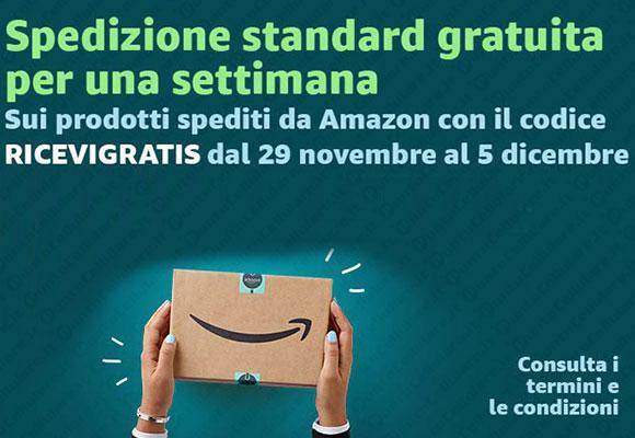 1b460f25aeffbd Amazon offre la spedizione gratuita fino a 5 dicembre | PuntoCellulare.it